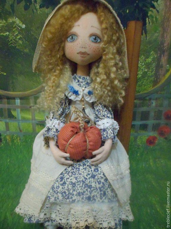 Купить Тыковка - кукла текстильная, кукла ручной работы, кукла в подарок, кукла интерьерная, подарок
