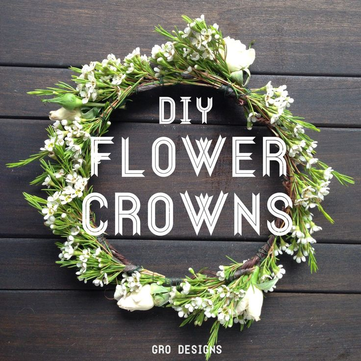 GRO Floral and Event Design | DIY Flower Crowns: Awaken Your Inner Flower Child #flowercrowns #diy