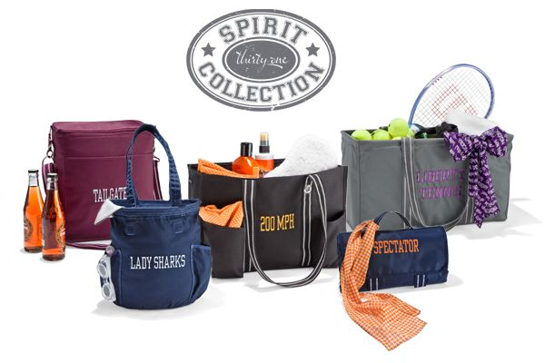 Spirit Collection available just in time for football season!: 31 Bags, Spirit Collection, Gifts Ideas, Thirtyon Gifts, Thirty On Ideas, 31 Spirit, Thirty On Gifts, Thirty One Gifts, Thirtyon Ideas
