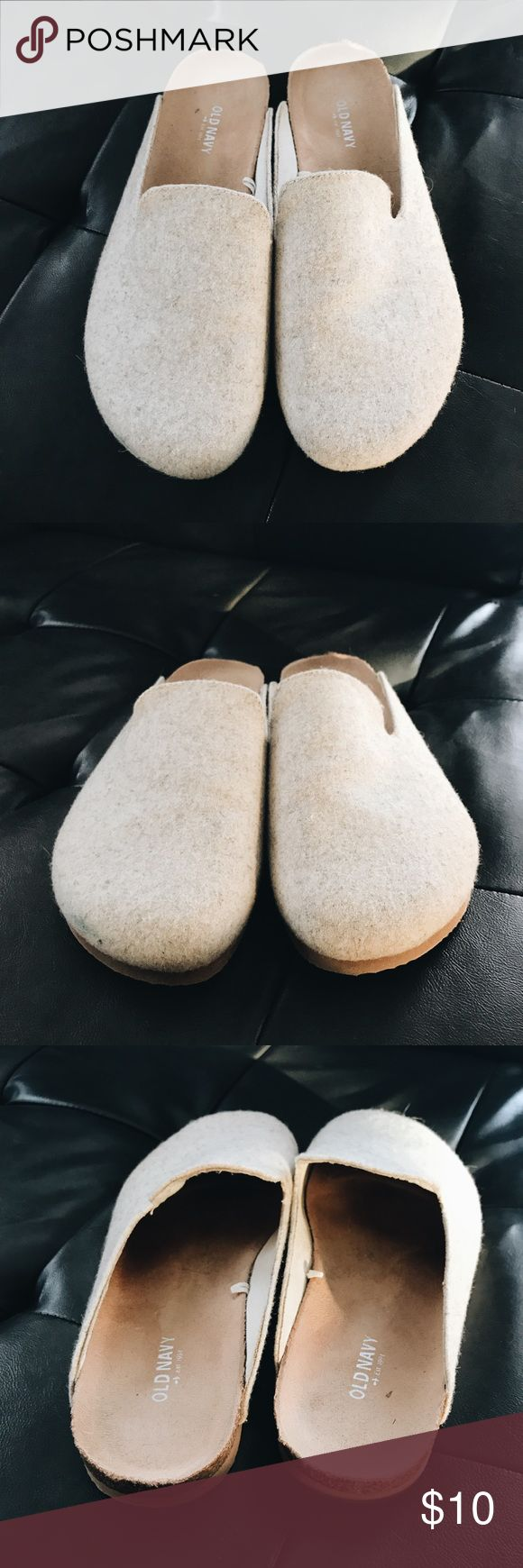 Old Navy House Slippers, Size 10 Hard sole slip on shoes from Old Navy. Worn a couple times, still in great shape. 82% wool on top. Old Navy Shoes Flats & Loafers