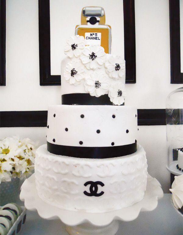 Theme: Chanel Inspired Cake - Black & White
