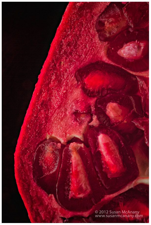Red Pomegranate Photograph Modern Art Food Photography от McAnany