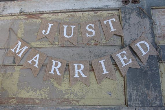 Just Married / Just Married Banner / Just by CuterThanWords, $30.00