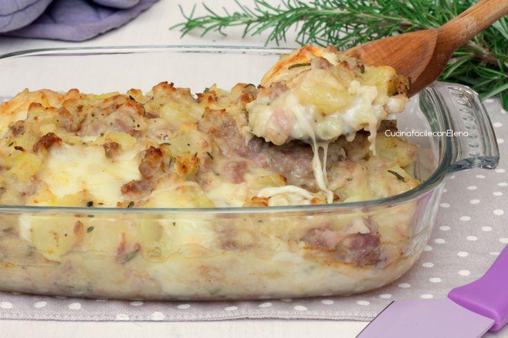 pasticcio di patate e salsiccia1