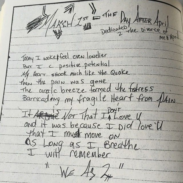 """Seen here is an excerpt from @2pac's book of poems, """"The Rose That Grew from Concrete."""" This poem and more can be seen on display at the """"All Eyez On Me: The Writings of Tupac Shakur"""" exhibit at #TheGrammyMuseum until April 22nd."""