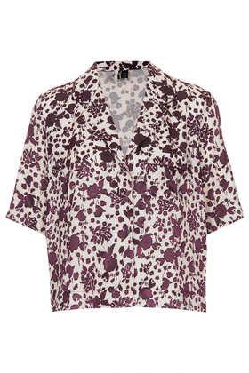 Flower Devore PJ Blouse - Blouses  - Tops  - Clothing