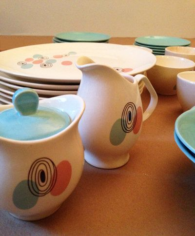 I WANT! Mid-Century Modern Steubenville Dishes