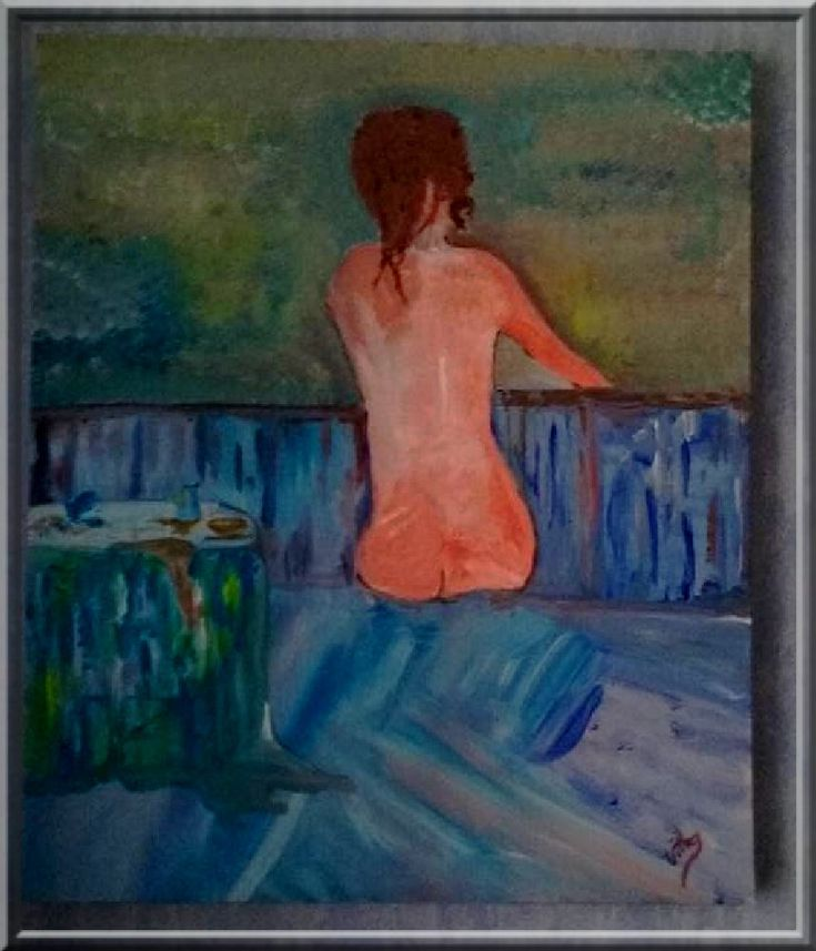 the woman on the balcony....a my canvas by Artiste photographe amateur--ERIC VILLEY