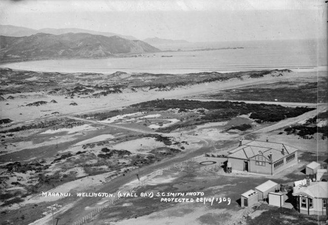 Looking south over Lyall Bay, Wellington