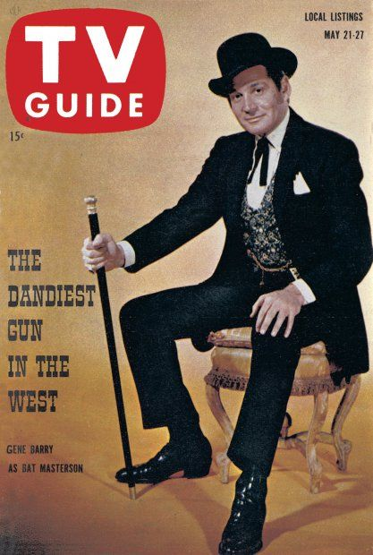 TV Guide: May 21, 1960 - Gene Barry as Bat Masterson