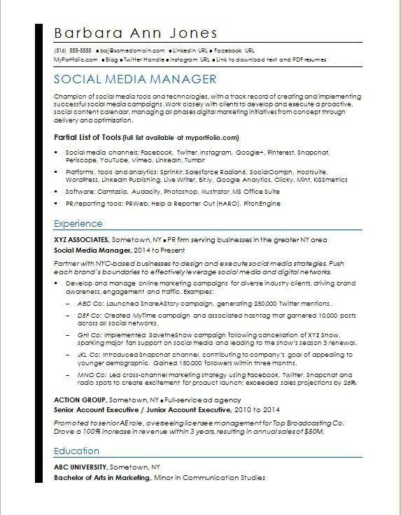 27 Social Media Manager Resume In 2020 Marketing Resume Resume Cover Letter Template Medical Assistant Resume