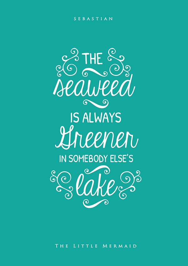 Lovely Typographic Posters Of Inspiring Quotes From Disney Movies - DesignTAXI.com