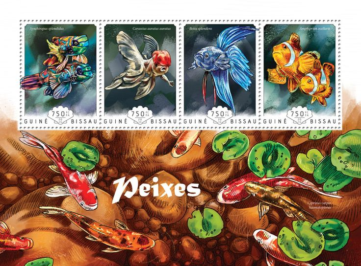 Post stamp Guinea-Bissau GB 14605 aFishes (Synchiropus splendidus, {…}, Amphiprion ocellaris)