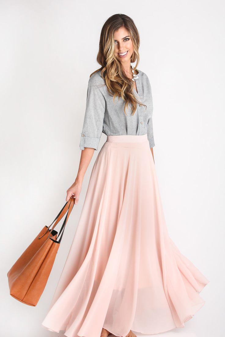 Best 25+ Pink maxi ideas on Pinterest | Peach maxi skirts, Maxi ...