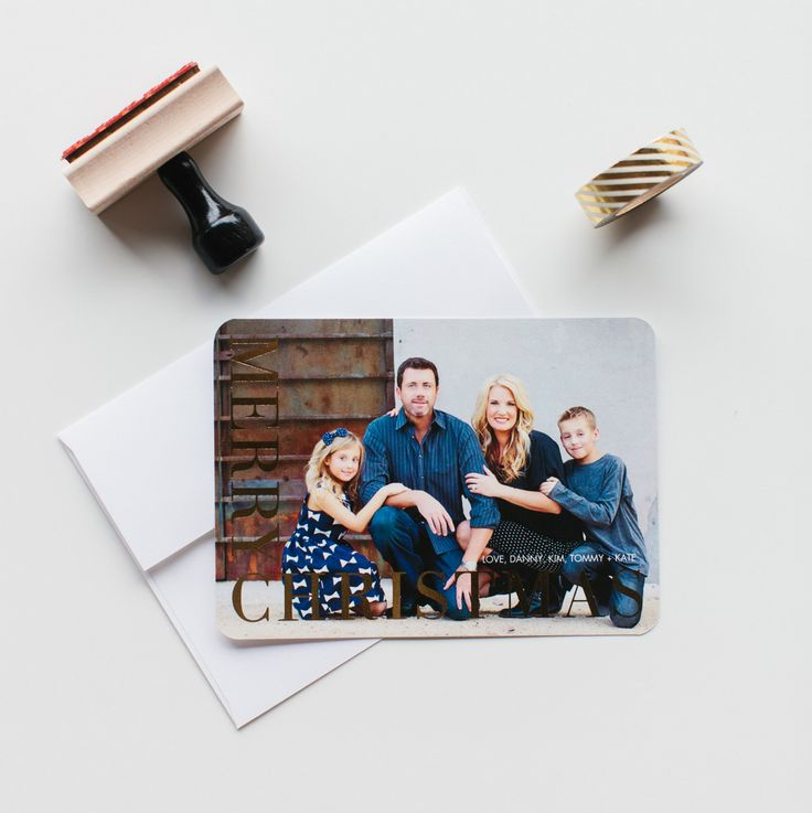 See what Kim of TomKatStudio has in store for her holiday cards this year. We love the subtle, and simple look of the gold foil stamp.