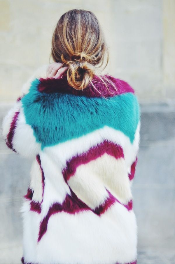 The Bigger, The Better: How to Wear the Maison Scotch Fake Fur | Dogs and dresses | personal style blog