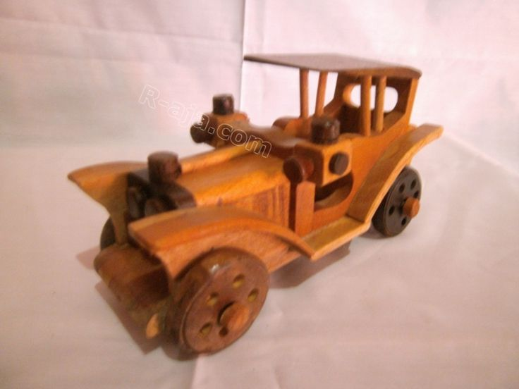 Handicraft Miniature Wooden Crafts Classic Cars made of Wood.