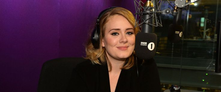 """PHOTO: Adele is seen on """"The BBC Radio 1 Breakfast Show with Nick Grimshaw."""" The show broadcasted the world premiere of her new single, """"Hello"""" Oct. 23, 2015."""
