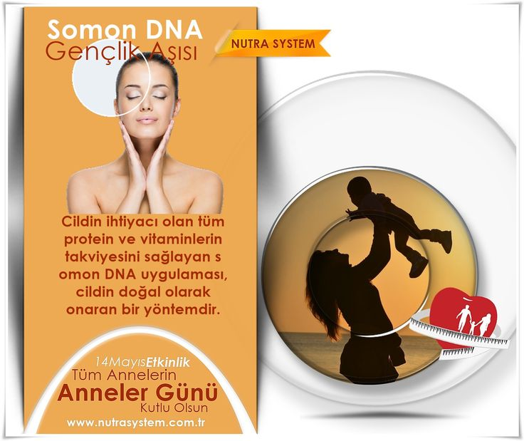 Somon DNA   Gençlik Aşısı  Somon DNA (Gençlik Aşısı),  yaşlanma ve yaşlanmaya bağlı ciltte oluşan değişiklikler üzerine yapılan çalışmalarda bu değişimlerin temel nedenlerinin ciltte azalan proteinler olduğu ortaya çıkmıştır. Yine yapılan bilimsel araştırmalara göre ciltte eksilen proteinleri tamamlayabilen en iyi kaynağın somon balığı DNA'sı olduğu kanıtlanmıştır.  http://www.nutrasystem.com.tr/cilt-yenileme-botoks-dolgu-iple-yuz-asma-cilt-bakimi-peeling/somon-dna-genclik-asisi/