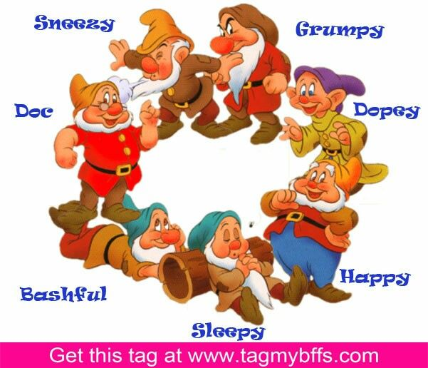Names of seven dwarfs