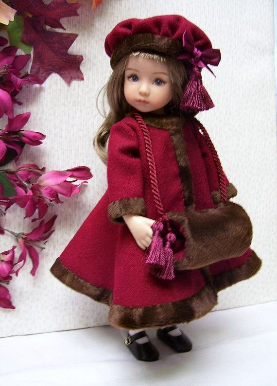 pdf pattern for effner little darling coat hat muff and dress 13 doll awesome drop waist. Black Bedroom Furniture Sets. Home Design Ideas