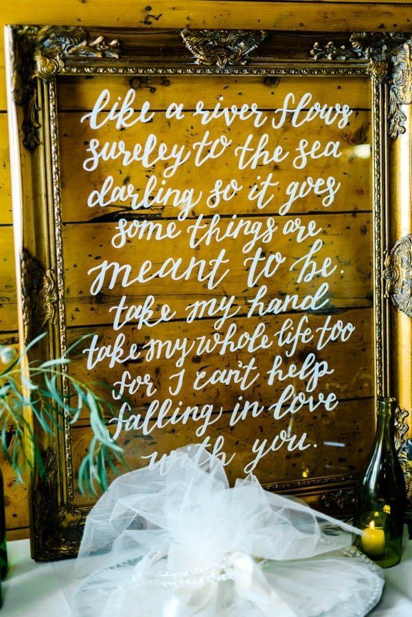 Elvis Presley lyrics are perf for any wedding day  | photo by Autumn Cutaia Photography,