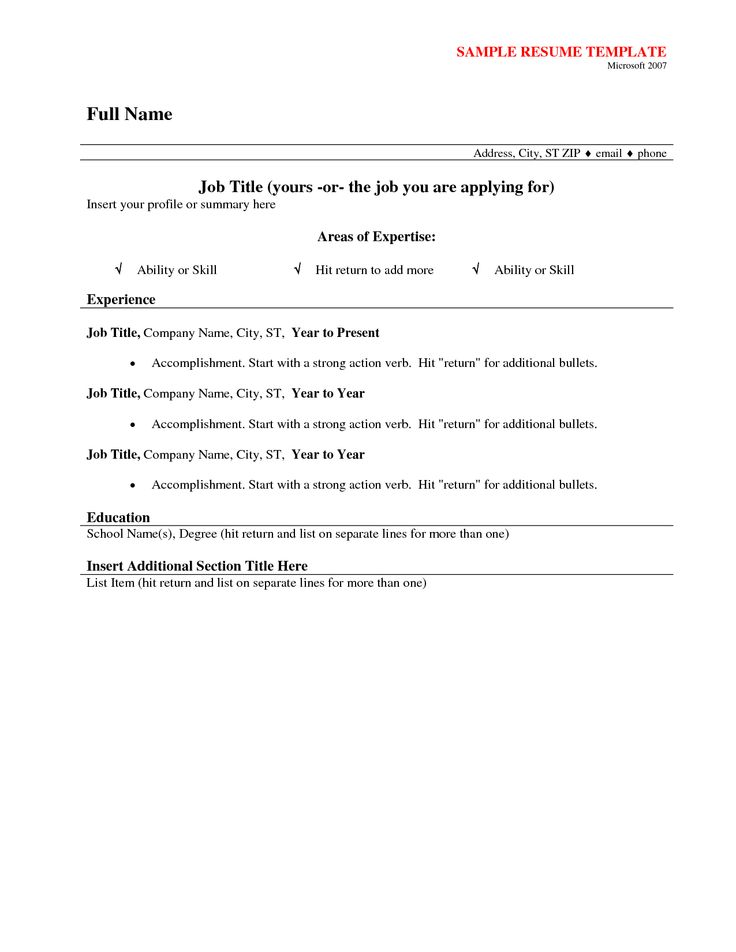 Sample Simple Resume Format  Resume Format And Resume Maker
