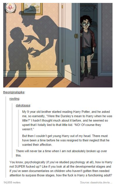 How did Harry turn out so well?--Well, I think the books imply it's thanks to Lily's protective magic.