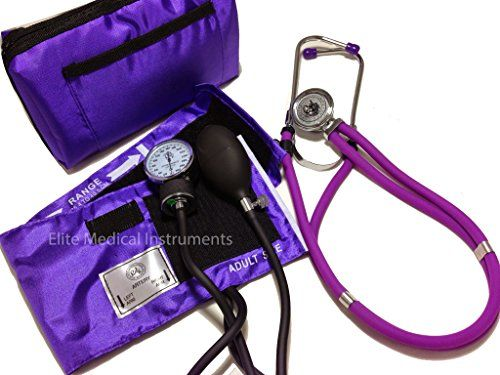 Special Offers - EMI PURPLE Aneroid Sphygmomanometer and Sprague Rappaport Stethoscope Set Kit #330 - In stock & Free Shipping. You can save more money! Check It (April 28 2016 at 04:20PM) >> http://hrmrunningwatch.net/emi-purple-aneroid-sphygmomanometer-and-sprague-rappaport-stethoscope-set-kit-330/