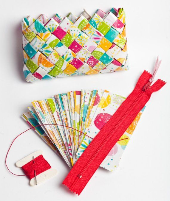 candy wrapper bag- Meksikansk fletting