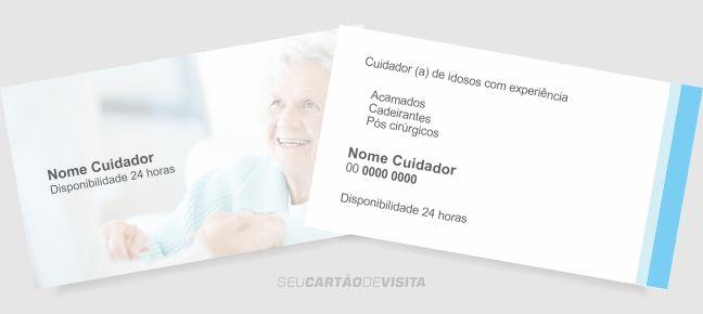 Cartão de visita cuidador de idosos grátis para download