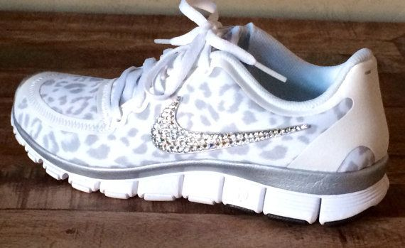 Nike Free Run 5.0 with Swarovski crystal swoosh on Wanelo ef7e67269