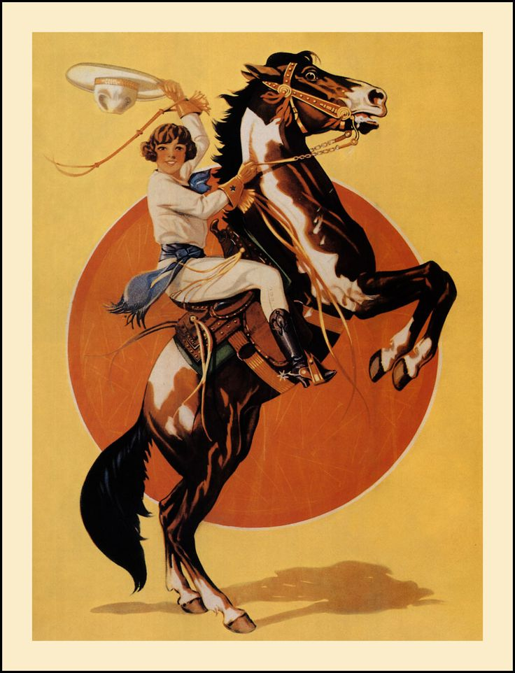 Vintage Cowgirl Art | Cowgirl — circa 1930, according to a note on the back