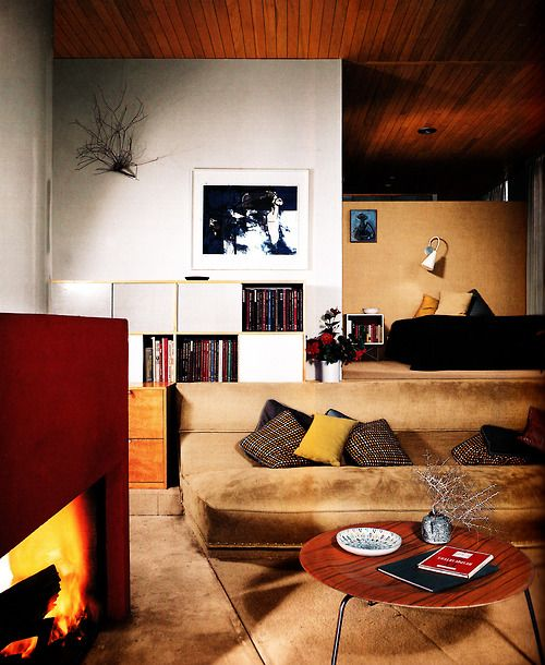 Case Study House Number 9, by Charles Eames and Eero Saarinen. Designed and built between 1945-1949, this house was part of John Entenza's A...