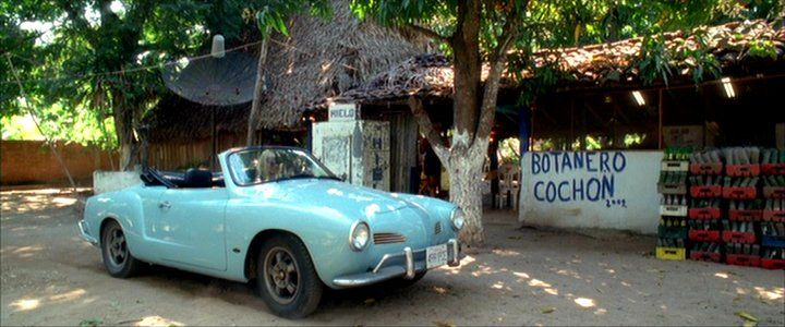 As driven by The Bride in Kill Bill:  1972 Volkswagen Karmann Ghia Convertible [Typ 14]