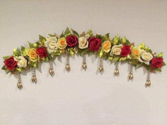 Designer artificial flowers by DiwaliToranAndDiyas on Etsy