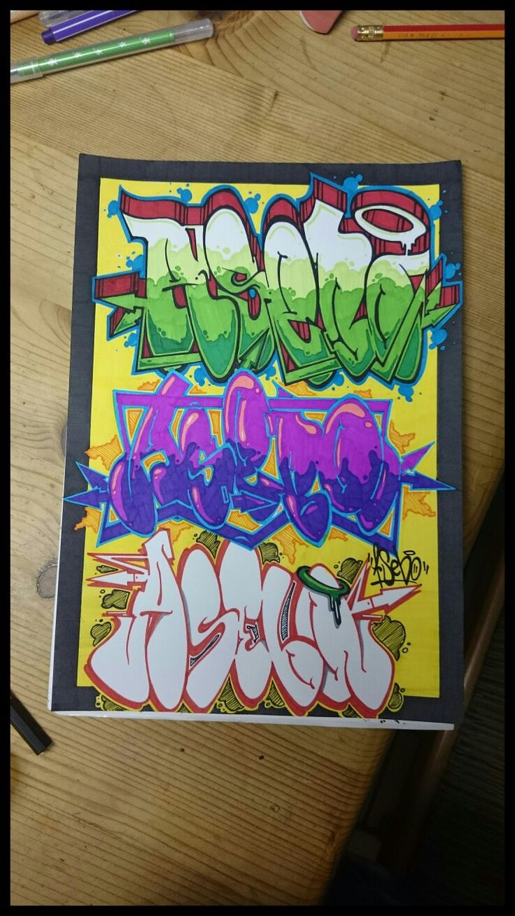 One name...three ways. Another sketch. AsebOner! #graffiti #3ways #colours #sketch