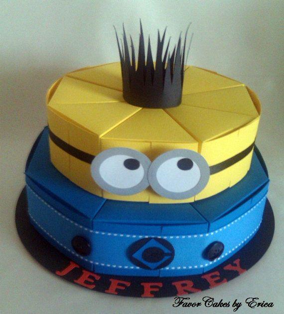 Minion Favor Box Cake Please Contact Me for a Price di FavorCakes