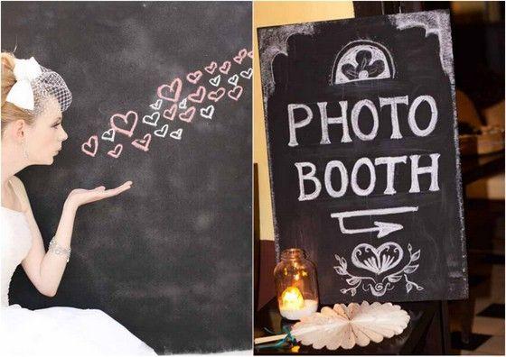 Bruiloft thema Krijtborden