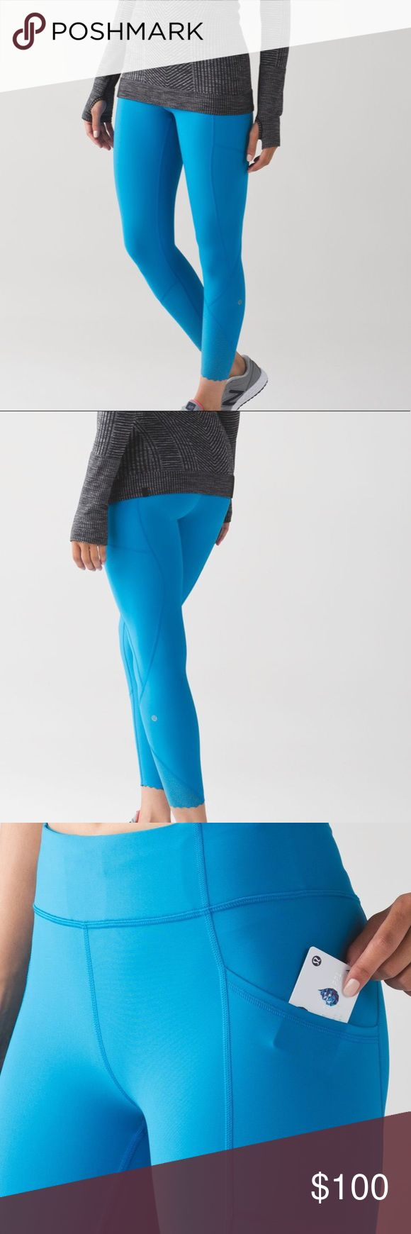 LuluLemon Athletica Tight Stuff Tight II LuluLemon Athletica Tight Stuff Tight II Color- sky blue  Size - 10 (large)  Brand new with tags!! Offers welcome. lululemon athletica Pants Leggings