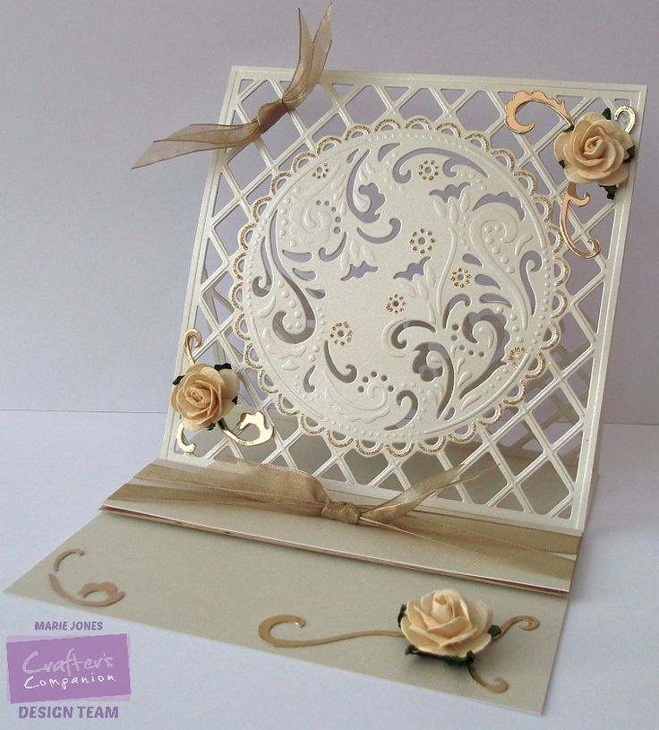 Crafter's Companion - Die'sire Create-a-Card Ornate Lattice - Centura Pearl…