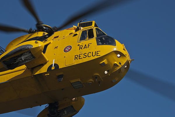 Sea King Search and Rescue Helicopter in action! Your purchase includes a donation to the RAF Benevolent Fund, Photo by Steve Purnell