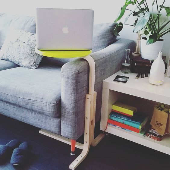 turn an Ikea Frosta stool into a new laptop table