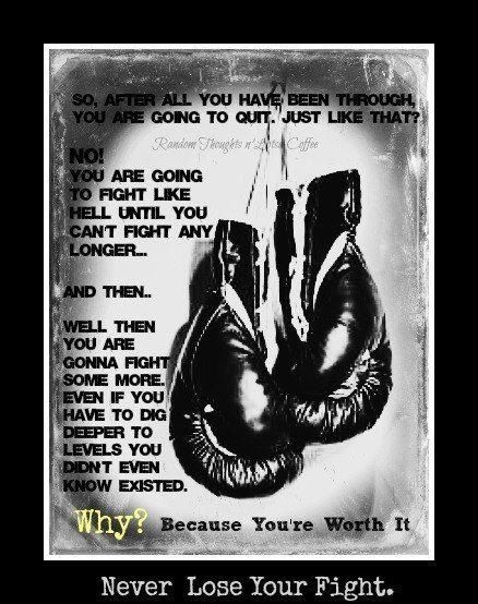 Never lose your fight