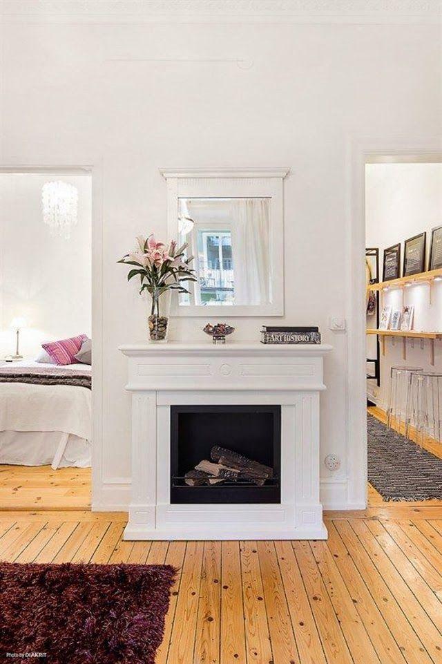 17 mejores ideas sobre chimenea falsa en pinterest - Chimeneas para pisos ...