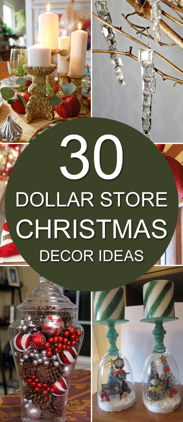 Diy christmas party decorations - 30 Dollar Store Christmas Decor Ideas