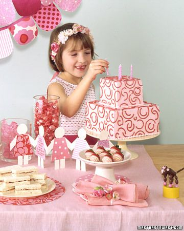 Little girl pink birthday party