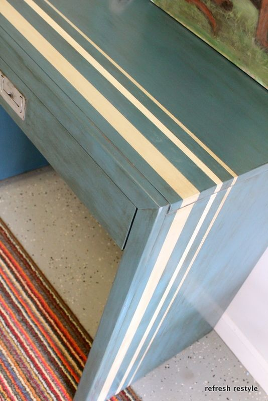 Aubusson Blue Chalk Paint Desk