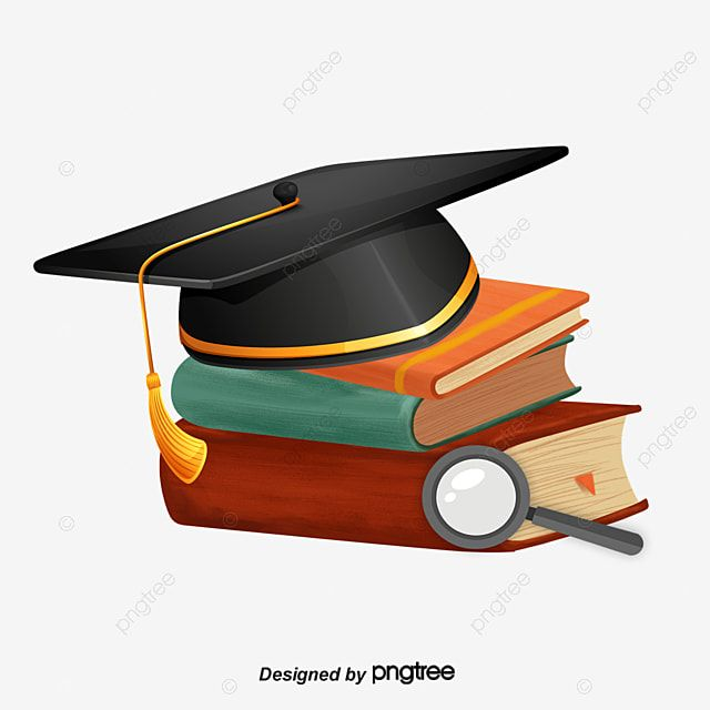 Graduation Cap Books Book Clipart Graduation Book Png Transparent Clipart Image And Psd File For Free Download In 2021