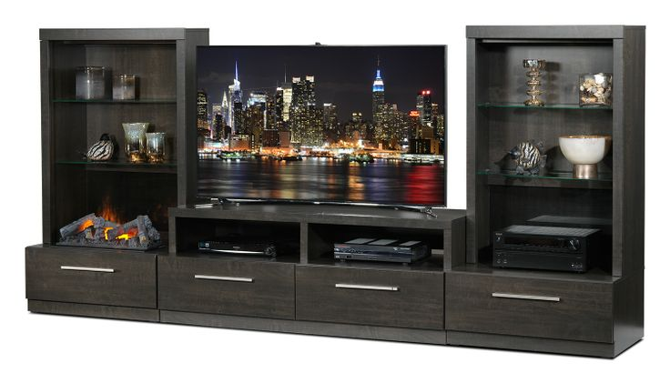 Lakeshore Entertainment Wall Units 7 Pc. Fireplace Entertainment Unit - Leon's